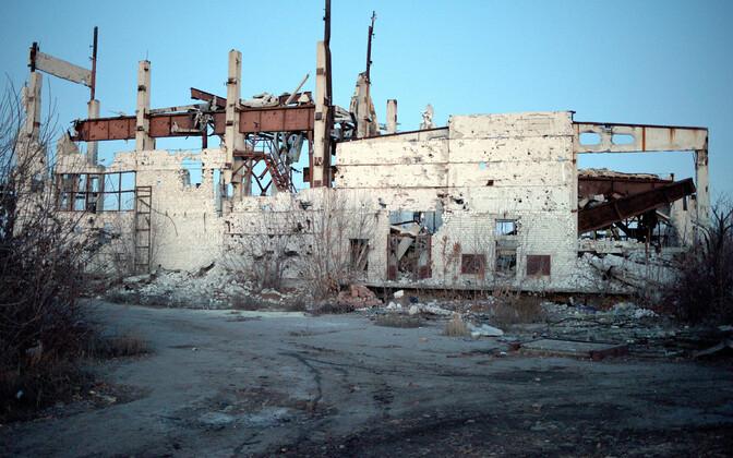 Purunenud hoone Donetski oblastis.