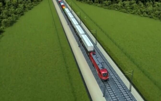 будущая трасса Rail Baltic.