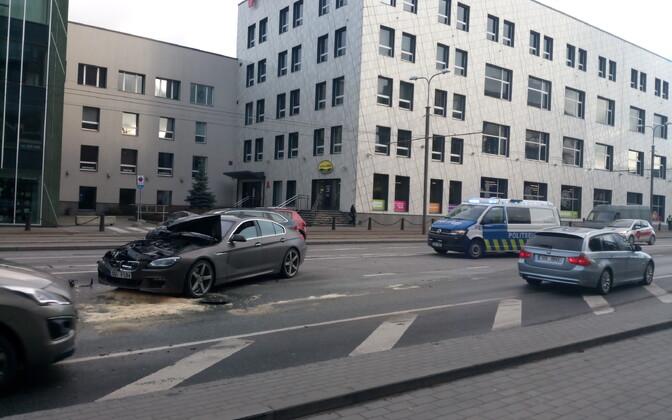 Одна из попавших в ДТП на Тартуском шоссе машин.
