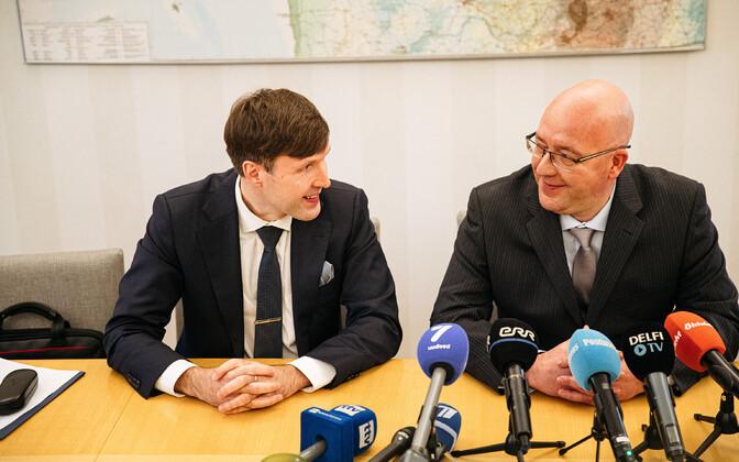 EKRE aseesimees Martin Helme ja maaeluministri kandidaat Arvo Aller