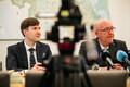 Пресс-конференция Арво Аллера и Мартина Хельме.