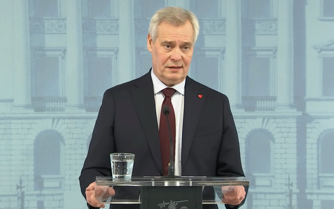 Antti Rinne pressikonverentsil