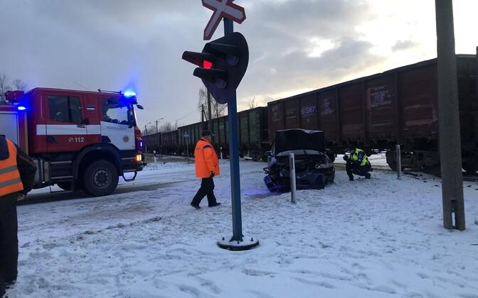 Liiklusõnnetus Kohtla-Järvel.