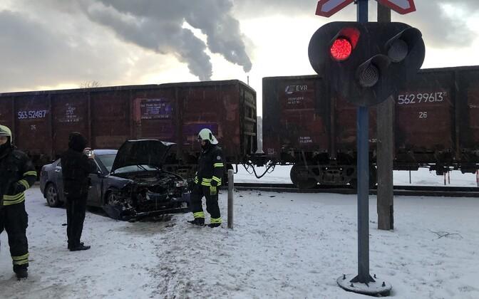 A crash in Kohtla-Järve.