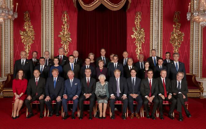 Suurbritannia kuninganna Elizabeth II riigipeade ja valitsusjuhtide vastuvõtt NATO 70. aastapäeva puhul.