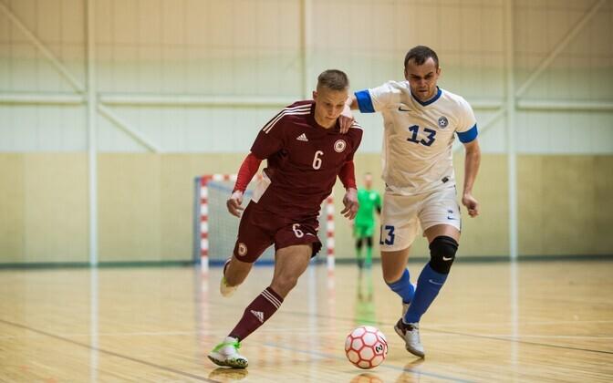 Сборные Латвии и Эстонии встречались в декабре прошлого года на Балтийском турнире.