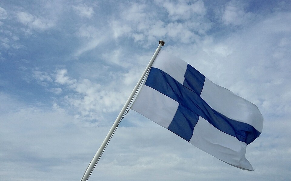 Флаг Финляндии.