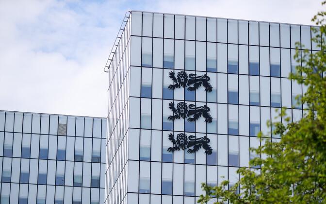 Eesti vapp ühendministeeriumi hoonel.