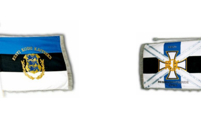 Estonian Reserve Officers' Association flags.