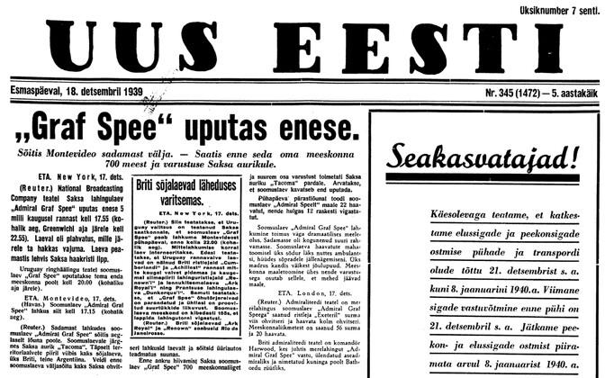 Uus Eesti 18.12.1939