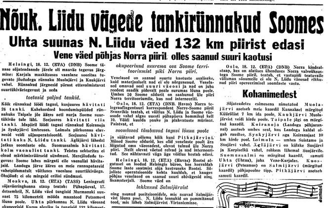Päevaleht 19.12.1939