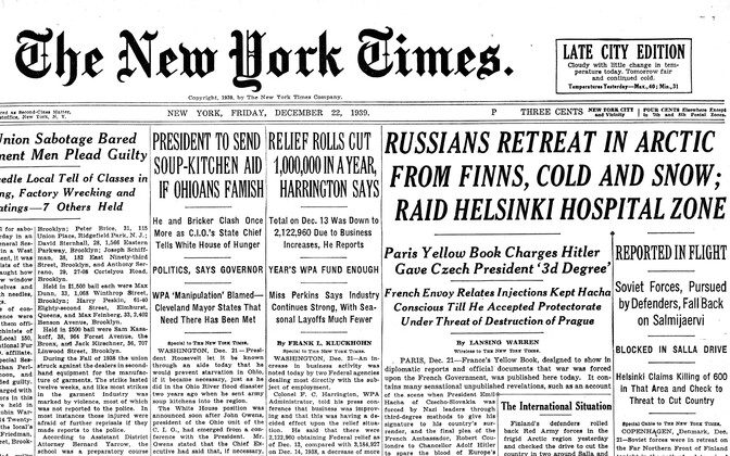 The New York Times 22.12.1939