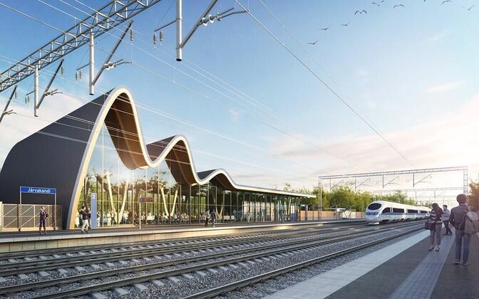 Rail Balticu Järvakandi peatuse projekt.