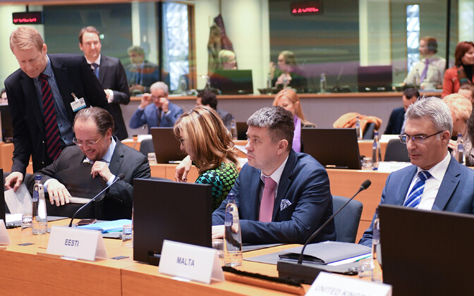 Minister of Foreign Affairs Urmas Reinsalu (Isamaa) in Brussels for the Foreign Affairs Council. Dec. 9, 2019.
