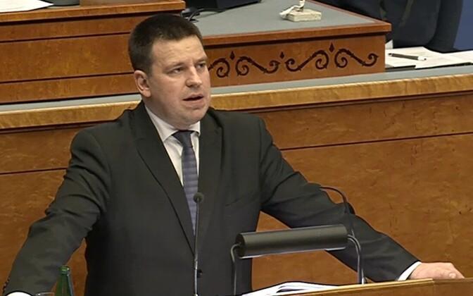 Jüri Ratas riigikogus.