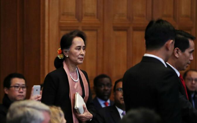 Aung San Suu Kyi teisipäeval Haagis.