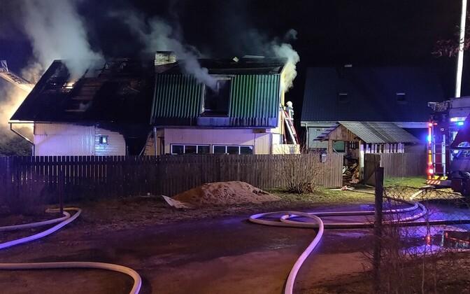 House fire in Koidutähe Street, Tartu.