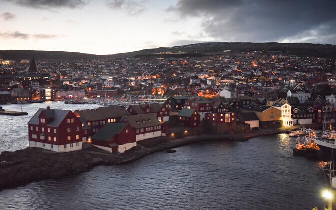 Torshavn Fääri saartel.
