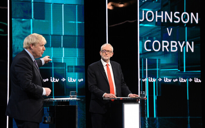 Johnson ja Corbyn teledebatis.