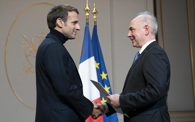 Emmanuel Macron ja Clyde Kull.