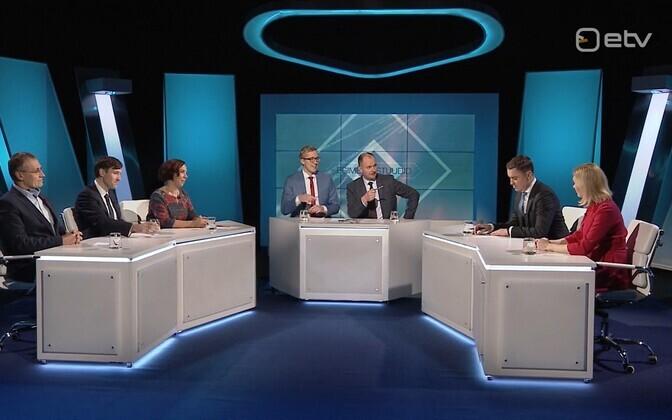 Дебаты представителей правящей коалиции и оппозиции в передаче