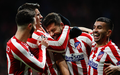 Madridi Atletico tähistamas oma edasipääsu