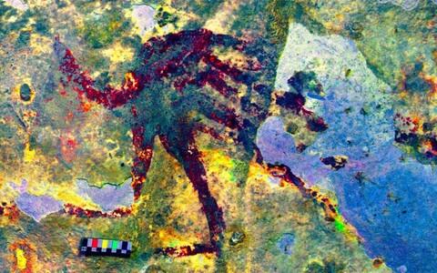 Leang Bulu' Sipongi lubjakivikoopa seinal on kujutatud poolinimesi-poolloomi.