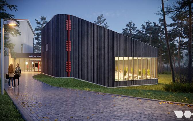 Эскизный проект нового бассейна в Тырва.