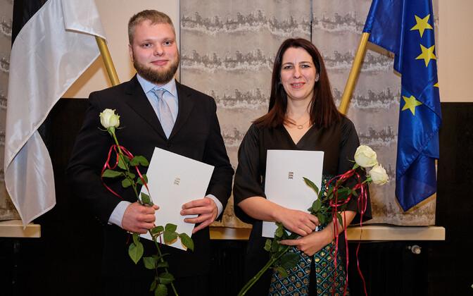 Peapreemiate võitjad Rebekka Lotman ja Marek Mooste.