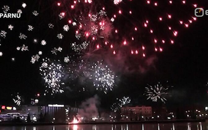 Fireworks in Pärnu.