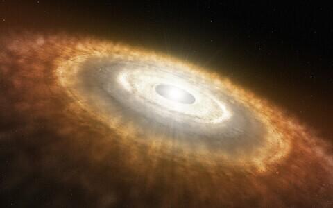 Protoplanetaarne ketas kunstniku nägemuses.