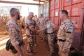 Gen. Francois Lecointre visiting EDF troops based in Mali.