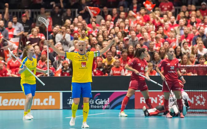 Капитан сборной Швеции и лучший бомбардир в истории женских чемпионатов мира Анна Вийк в финале ЧМ-2019.