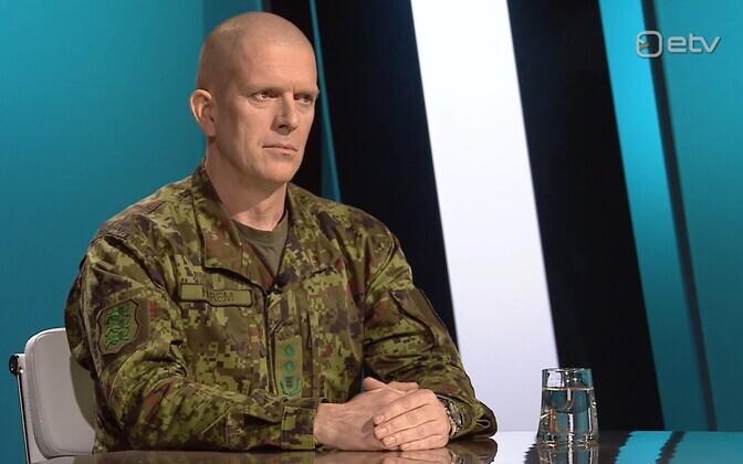 Commander of the Estonian Defence Forces Maj. Gen. Martin Herem on Esimene stuudio on Tuesday night. December 17, 2019.