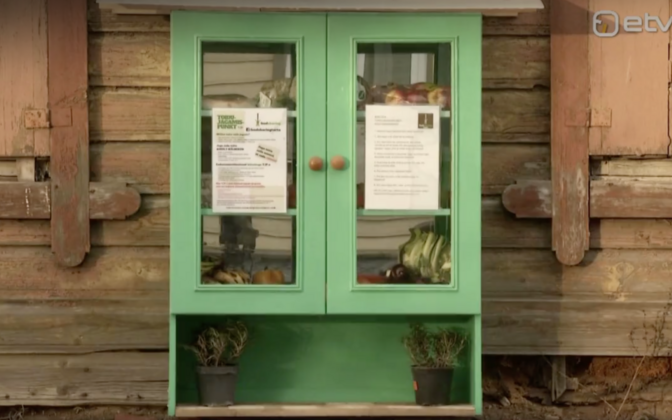 First public food cupboard in Karlova, Tartu.