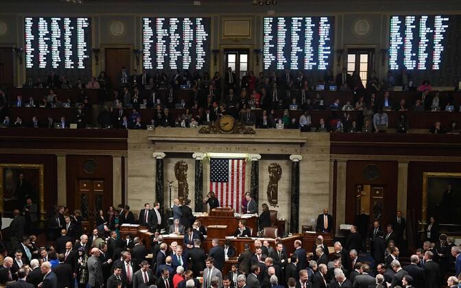 Голосование в Палате представителей Конгресса США.