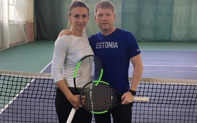 Леся Цуренко и Сильвер Карьюс на тренировке в Киеве.