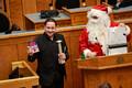 Santa Claus visited the Riigikogu on Thursday. December 19, 2019.