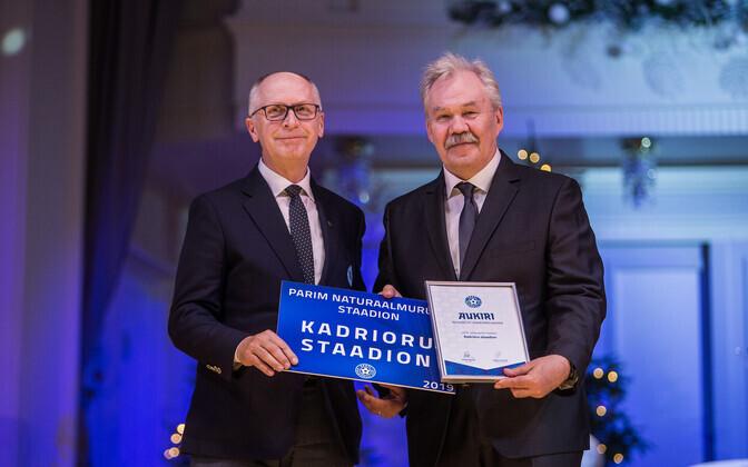 EJL-i peadirektor Tõnu Sirel ja Kadrioru staadioni direktor Olavi Sikka