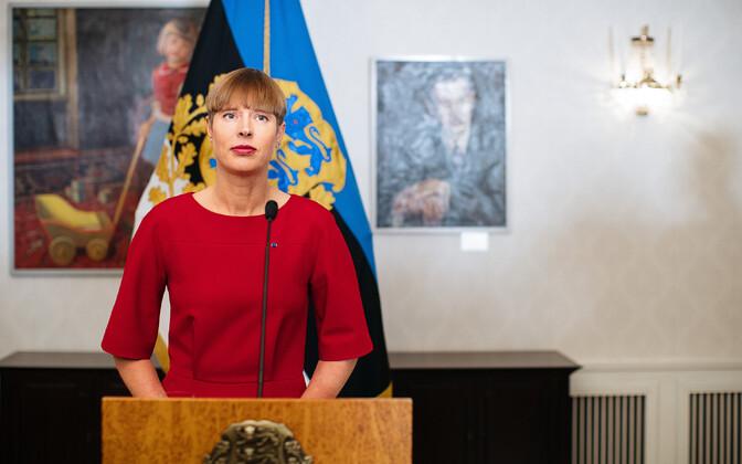 Президент Керсти Кальюлайд.