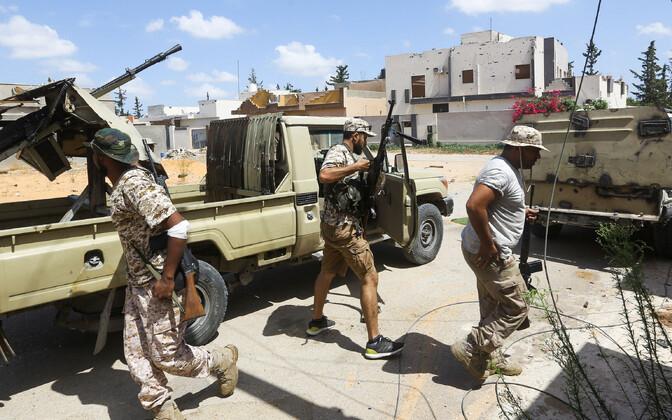 Liibüa ühtsusvalitsuse võitlejad.
