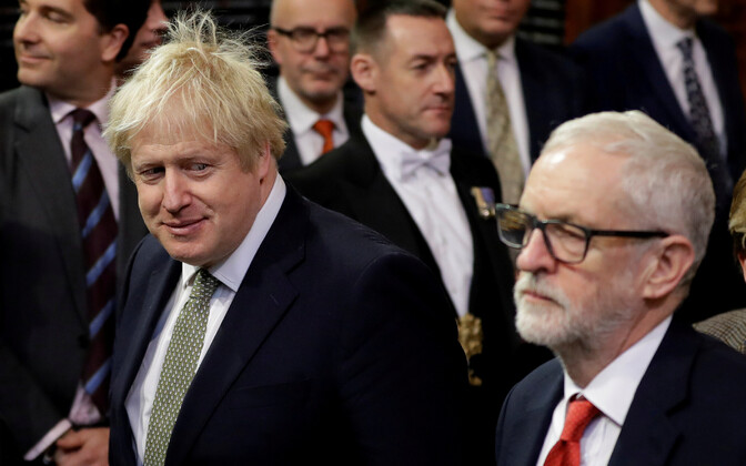 Борис Джонсон и лидер оппозиции Джереми Корбин.
