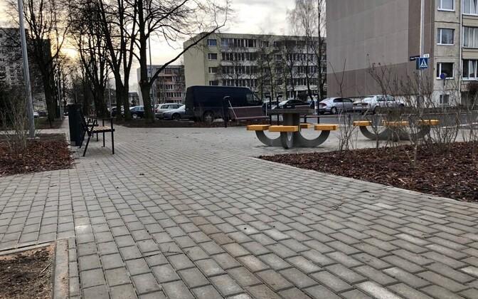 Улица Пинна в Ласнамяэ после ремонта.