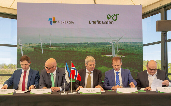 The signing of the Nelja Energia acquisition by Eesti Energia subsidiary Enefit Green.