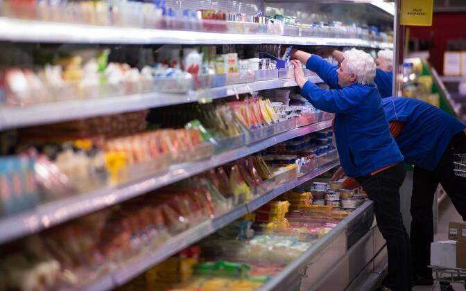 Supermarket workers.