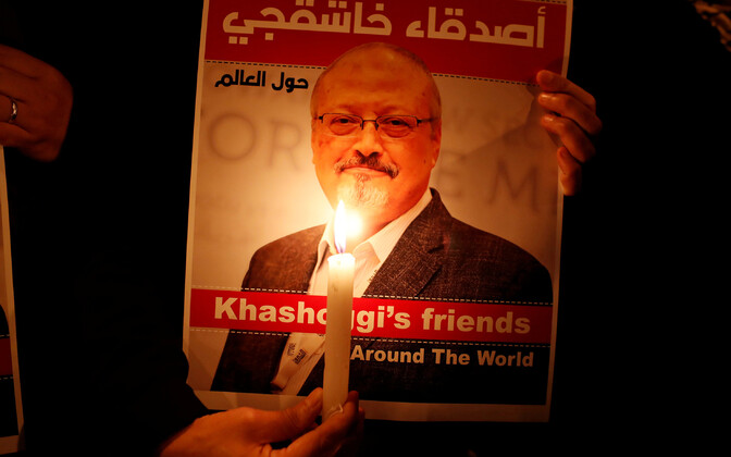 Плакат в память о Хашогги.