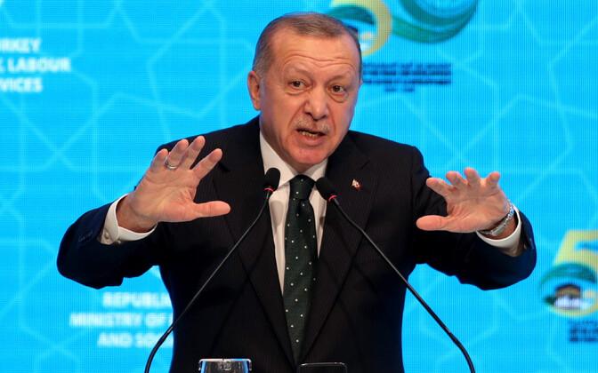 Türgi president Recep Tayyip Erdogan