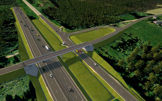 Artist's rendering of planned Võõbu-Mäo junction.