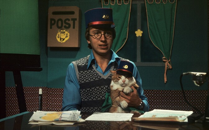 Raivo Järvi ja  kass Artur.