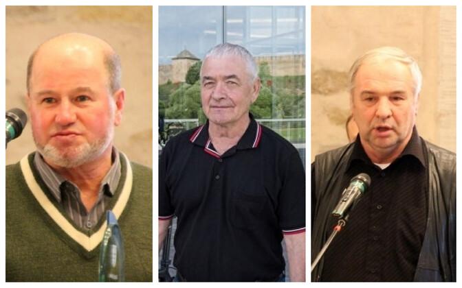 Спортивные тренеры Нарвы: Евгений Вшивцев, Геннадий Акимов и Алексей Богданов.